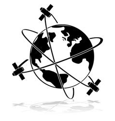 Satellites vector