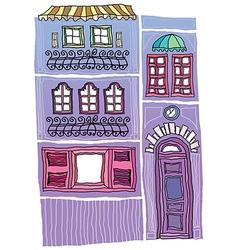 Shop building Drawing vector image