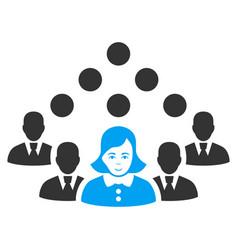 Staff team icon vector