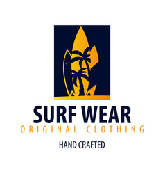 Surfing logo and emblems for surf club or shop vector