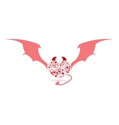 The devil valentines day love icon vector