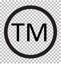 Trade mark isolated on transparent trade mark vector