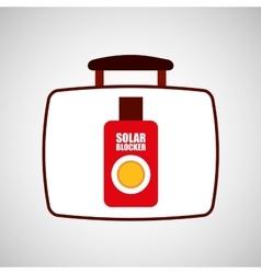 travel concept sun cream protection vector image