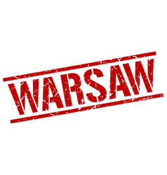 Warsaw red square stamp vector