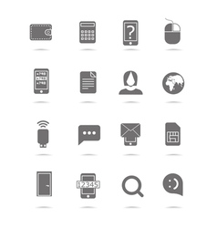 Web silhouettes collection isolated on white vector image vector image
