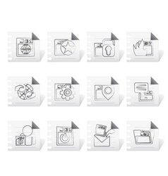 website and security icons vector image vector image