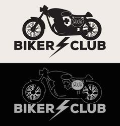Biker club logo set vector