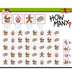how many sweets activity vector image