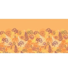 Desert flowers and leaves horizontal seamless vector
