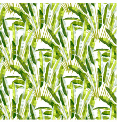 seamless pattern with tropic plants vector image