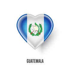 Patriotic heart symbol with guatemala flag vector