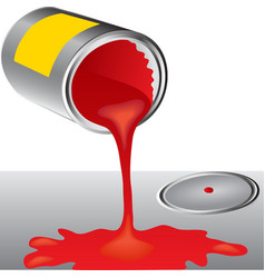 Cans of red paint vector