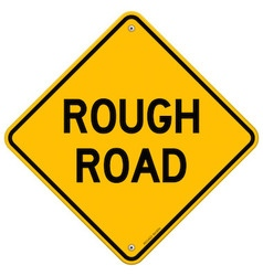 Rough road warning vector