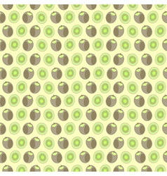 Seamless pattern with elements of kiwi vector