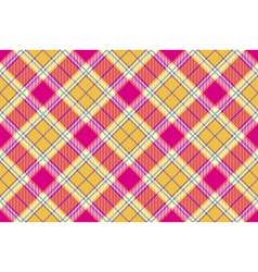 Plaid indian madras fabric diagonal texture vector