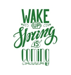 Spring is cominglettering quotes vector