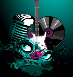 Music collage vector