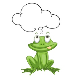 Frog thinking vector