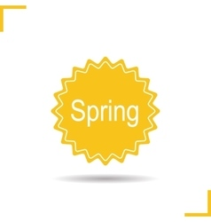 Spring sticker icon vector