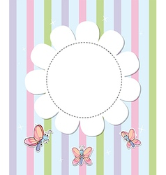 A stationery with three butterflies vector image