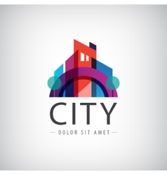 Abstract colorful city building vector
