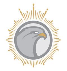 Angry eagle mascot vector