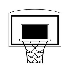 basketball backboard and hoop icon image vector image vector image