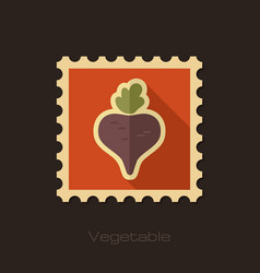 beet flat stamp vegetable vector image vector image
