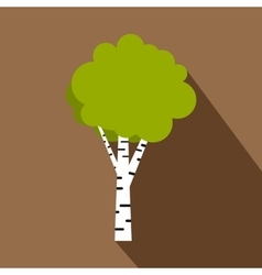 Birch icon flat style vector image