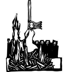 Burned at the Stake vector image vector image