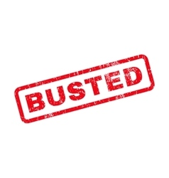 Busted text rubber stamp vector
