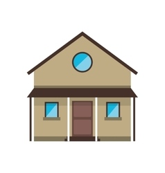 Cartoon familiy house countryside vector