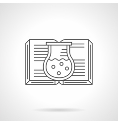 Chemistry book flat line icon vector