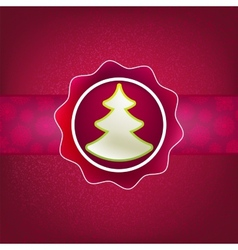 Christmas background and tree EPS8 vector image