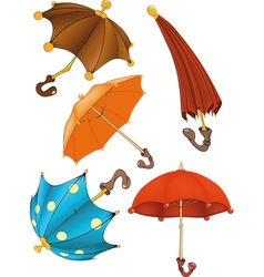 Complete set of umbrellas vector image vector image