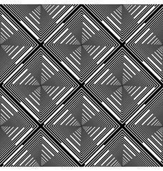Design seamless monochrome diamond stripy pattern vector