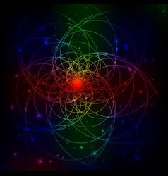 digital abstract fractal light background vector image