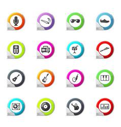 Disco or club icons set vector