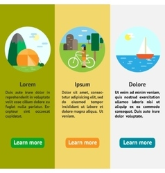 Eco-tourism camping cycle tourism sailing vector