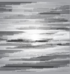 Glitched horizontal stripes black and white night vector