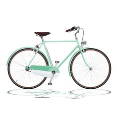 Green bicycle vector