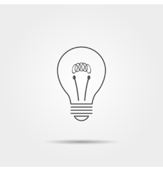 Lightbulb thin line icon vector image vector image