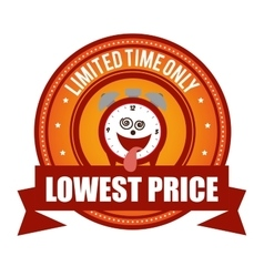 lowest price limited time onli crazy clock cartoon vector image vector image