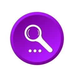 Magnify purple icon vector