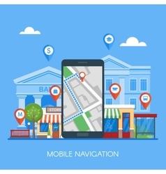 Mobile navigation concept vector image vector image