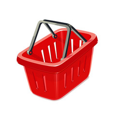 Red plastic basket vector