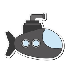 small submarine icon vector image vector image