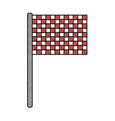 Sport flag grid competition icon vector