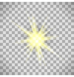 Transparent background star light vector