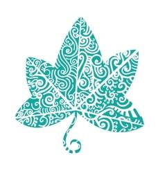 Tribal tattoo Ivy leaf vector image